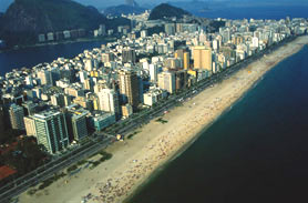 Ornamental Image of a City built right on the beach.